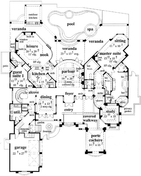 house plans with porte cochere craftsman house plans arborgate 30 654 associated designs
