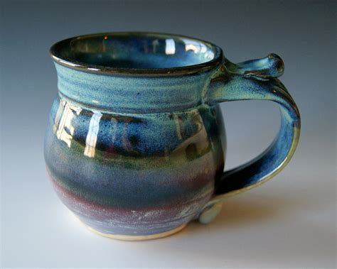 Handmade Pottery Mugs - pottery coffee mug handmade wheel thrown by riverstonepottery