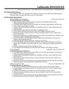inpatient pharmacy technician resume exle va
