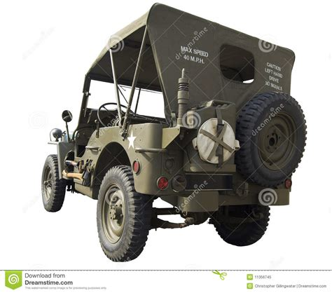 ww2 jeep side view wwii jeep rear view royalty free stock photo image 11356745