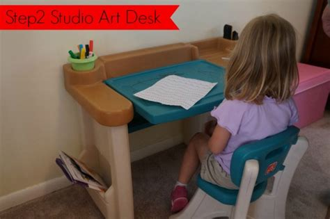 Review Giveaway Step2 Studio Art Desk Carrie With Children Step 2 Studio Desk