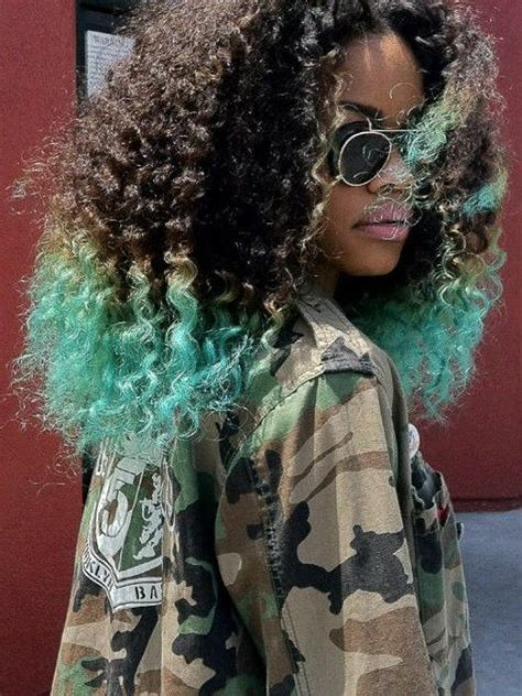 other ways to dip your braids teyana taylor crochet braids dip dyed turquoise hair