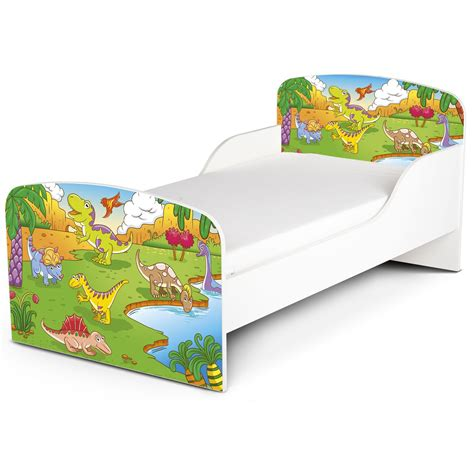dinosaur toddler bed dinosaurs mdf junior toddler bed new kids furniture ebay