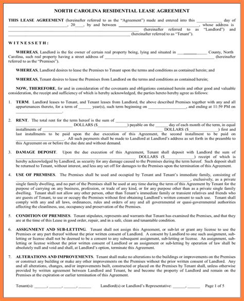 free printable lease agreement north carolina lease purchase agreement trimerica energy corp form 8k