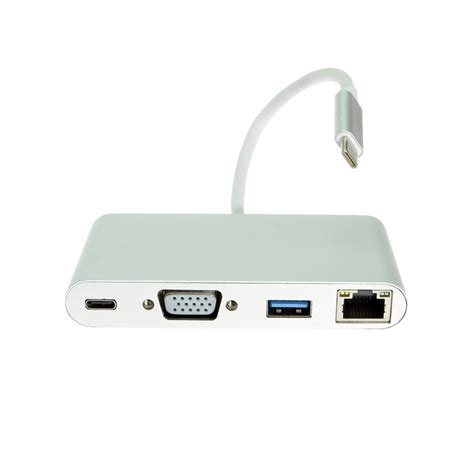 Usb To Vga Adapter usb c to vga multi port adapter with gigabit ethernet