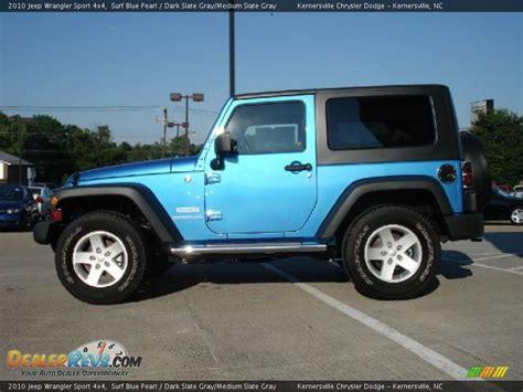 Blue Grey Jeep Wrangler 2010 Jeep Wrangler Sport 4x4 Surf Blue Pearl Slate