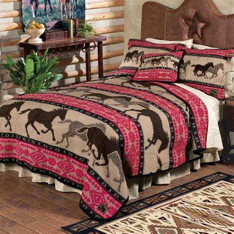 horse bed sheets horse adventure fleece bedding western decor pinterest
