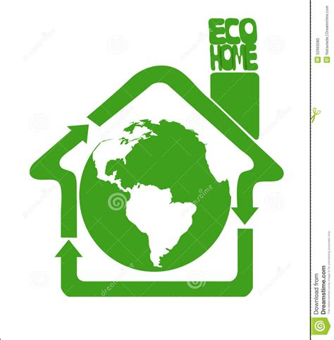 House Cleaning Green Earth House Eco Clean Earth Is Our Home Stock Photo Image 32993580