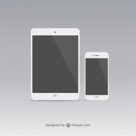 mobile phones and tablets tablet and mobile phone vector free