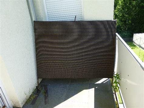 garten wand polyrattan stellwand braun windschutz sichtschutz paravat