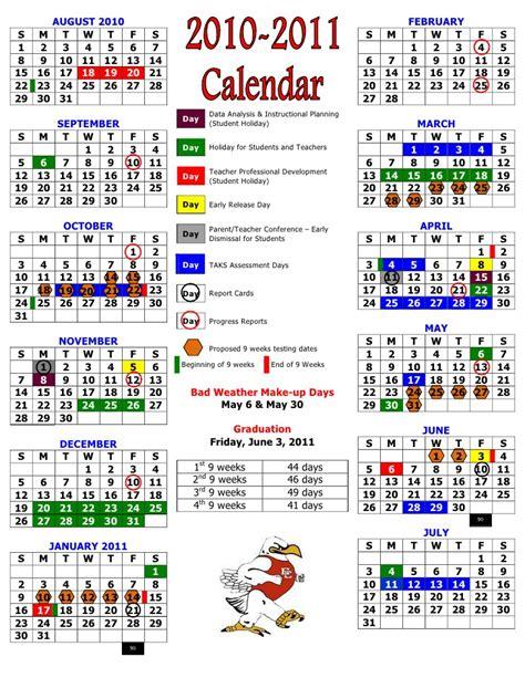 D U Academic Calendar Official 2010 2011 Calendar