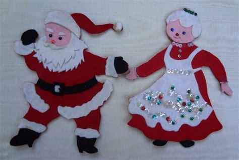 moldes de navidad en fieltro home manualidades vintage felt mr mrs claus magnets