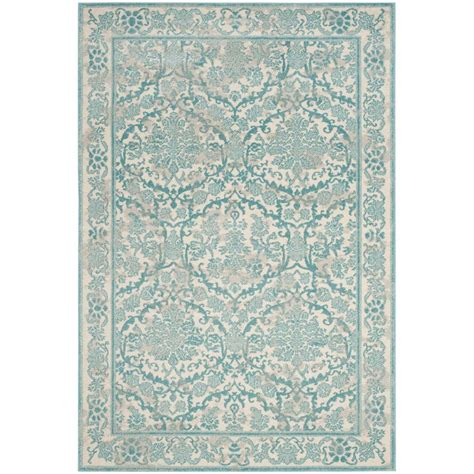 Area Rugs In Blue Safavieh Evoke Ivory Light Blue 5 Ft 1 In X 7 Ft 6 In Area Rug Evk242c 5 The Home Depot