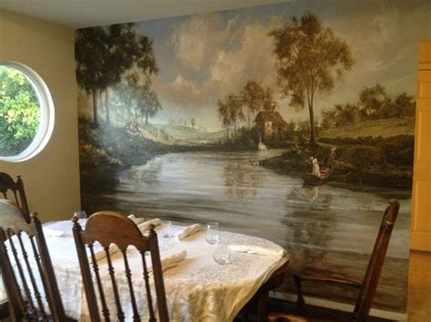classic murals traditional dining room san francisco