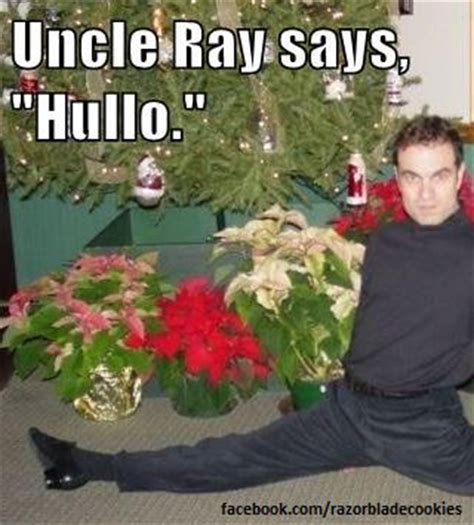 Gay Christmas Memes - uncle ray says quot hullo quot facebook com razorbladecookies