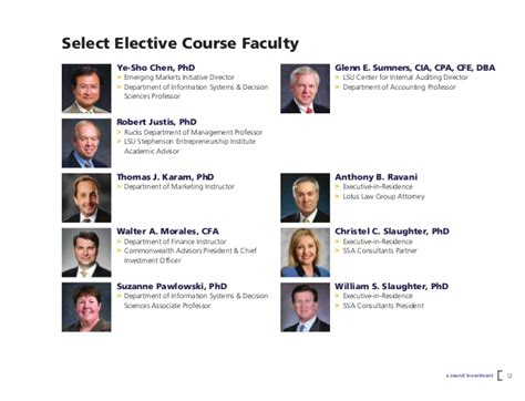 Lsu Mba Audit by Executive Mba And Professional Mba At Louisiana State