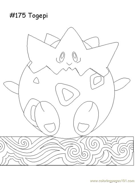 togepi coloring page free pokemon coloring pages