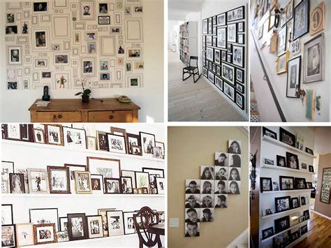 decorar pared con fotos familiares 60 brillantes ideas para decorar con fotos familiares