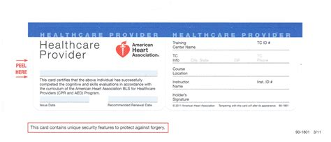 Bls Healthcare Provider Card Template American Heart Association Cpr Card Template Reactorread Org