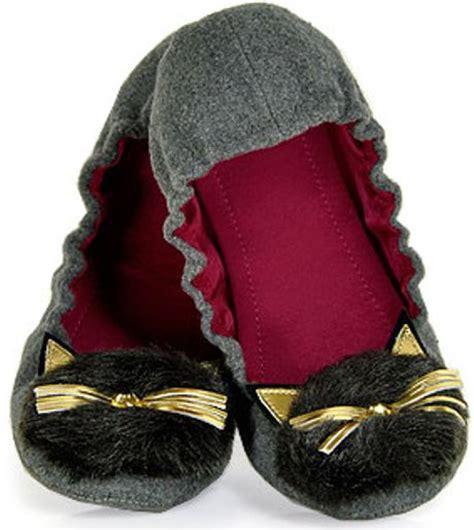 kate spade cat slippers kate spade cat flannel slipper in gray lyst