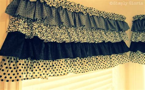 how to sew ruffled kitchen curtains simply gloria