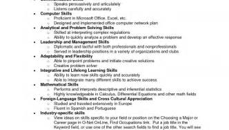 Resume Skill Exle by Non Technical Skills Resume Sales Technical Lewesmr