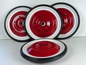Pedal Car Tires And Wheels Reproduction Murray White Pedal Car Wheels Tires 8 1 2