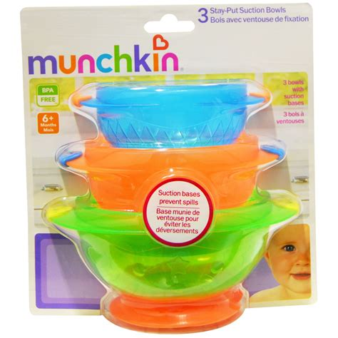 Baby Safe Stay Put Bowl Suction Bowl munchkin baby feeding weaning non spill stay put suction