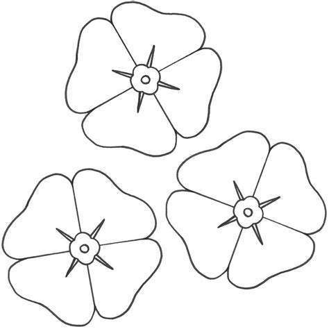 poppy template for children remembrance day poppy coloring page az coloring pages