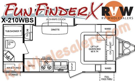 fun finder rv floor plans 2011 cruiser rv fun finder x x 210wbs travel trailer the