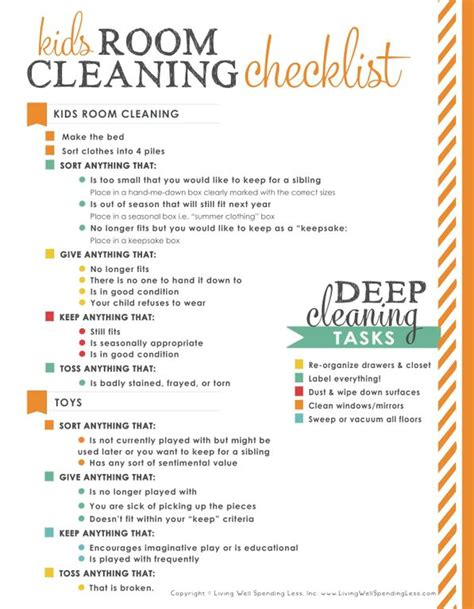 cleaning room checklist 31 days of living well spending zero day 10 clean your rooms