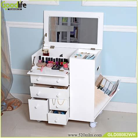 Jewely Armoire New Style Movable Wooden Makeup Cabinet With Mirror Buy