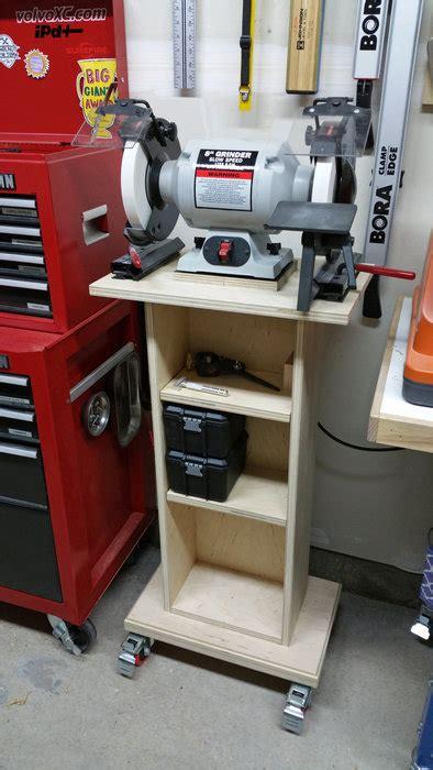 bench grinder stand plans grinder stand by joshgenz lumberjocks com