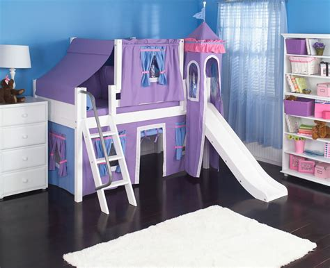 toddler castle bed purple princess castle bed with slide by maxtrix kids 370