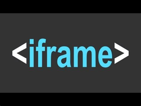 tutorial html iframe html iframe exle and tutorial youtube