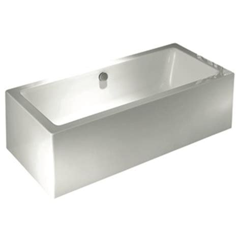 bunnings bathtubs rick mcleans 1700 x 750 x 590mm modern acrylic freestanding bath i n 4820795