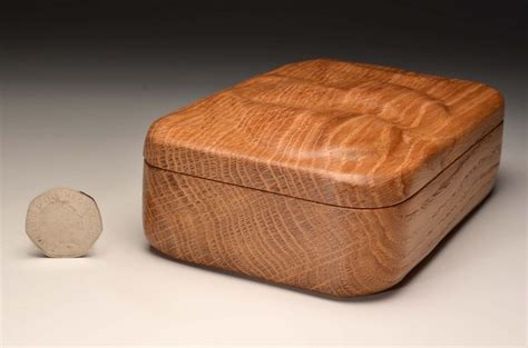 Handmade Trinket Box - solid oak handmade trinket box