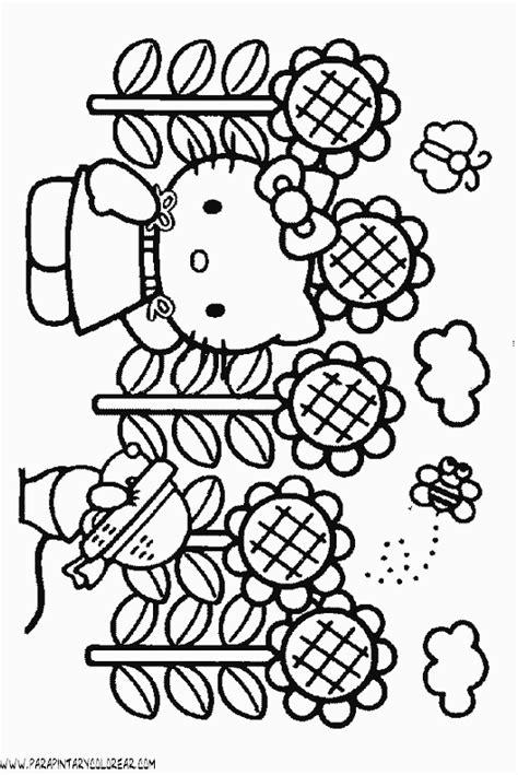 imagenes para colorear kitty dibujos para colorear de hello kitty 064