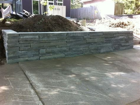 modern retaining wall modern bluestone retainer landscape walls modern
