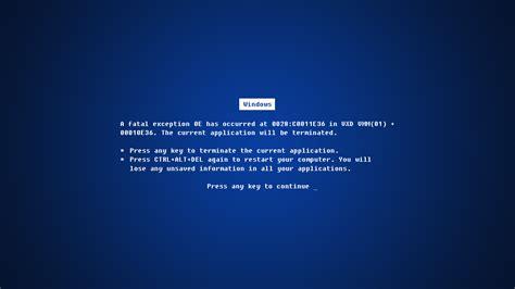 an error laptop wallpaper blue screen wallpaper 545820