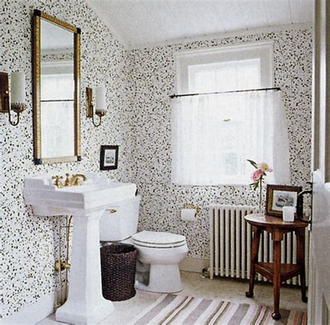 black and white wallpaper for bathrooms black and white baths the perfect bath