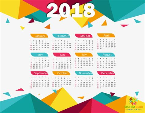 Kalender 2018 Sabah Kalendar 2018 Jadual Cuti Dan Takwim Malaysia Paling
