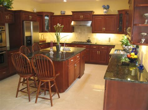 paint colors with cherry cabinets paint color for kitchen with cherry cabinets all about