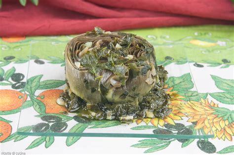 ricette da cucina italiana carciofi alla romana ricette di cucina