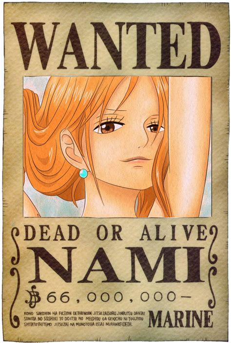 membuat poster wanted one piece nami new wanted poster oro jackson