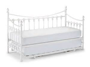 Daybed With Guest Bed And Mattress Vintage White Versailles Single Metal Day Bed Mattress