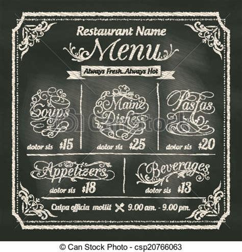 Design My Kitchen Layout clip art vector of restaurant food menu design with