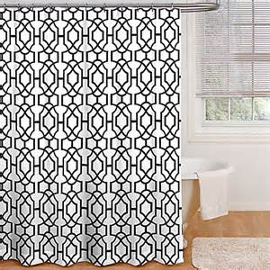 payton shower curtain in black white bed bath beyond