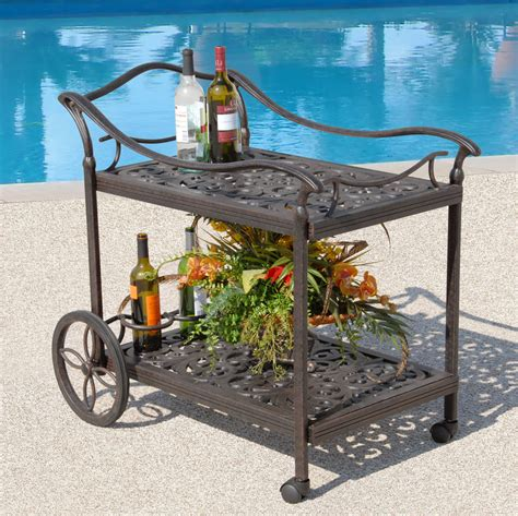 fiesta outdoor patio beverage cart hot tubs and pool