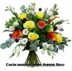 carte anniversaire theme fleur texte anniversaire sms